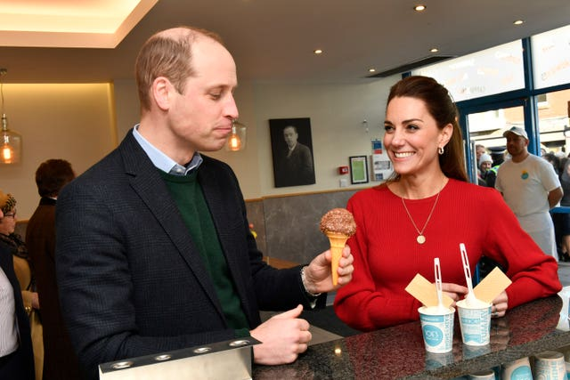 The royals sampled sweet treats at Joe's Ice Cream Parlour