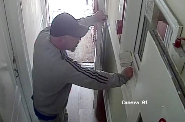 CCTV of Joseph McCann at the Phoenix Lodge Hotel in Watford