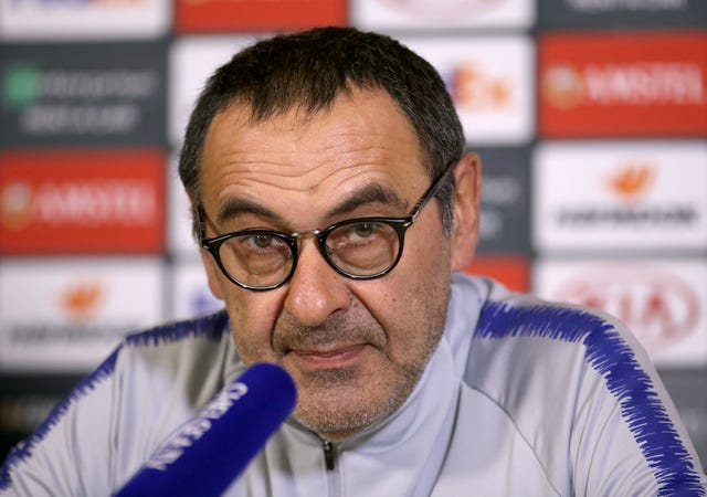 Sarri's Chelsea will face Eintracht Frankfurt in the last four of the Europa League