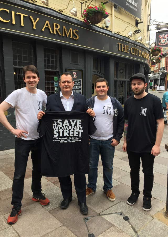Save Womanby Street group