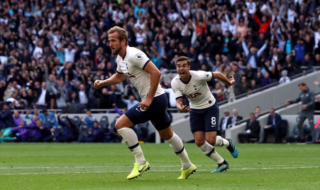 Harry Kane was on target in Tottenham's 2-1 win over Southampton