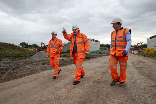 Boris Johnson construction site visit – West Midlands