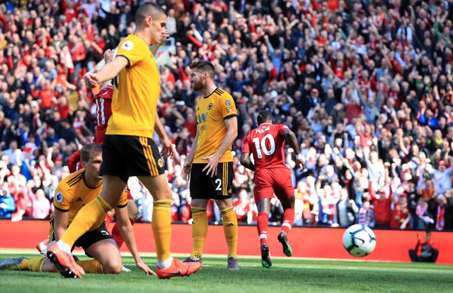 Sadio Mane's opening goal gave Liverpool hope on the final day of the Premier League season