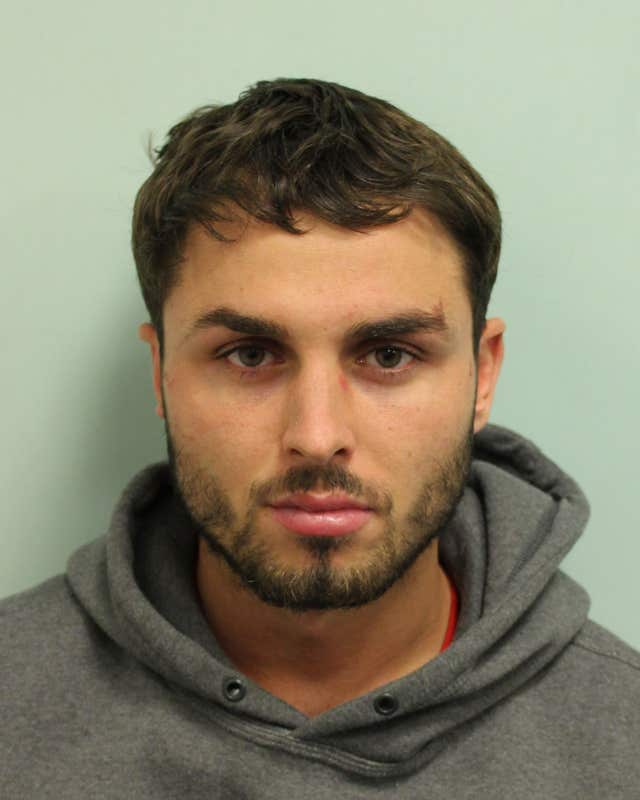 Arthur Collins, 25, who is serving a 20-year jail term for carrying out an acid attack in a London nightclub (Metropolitan Police/PA)