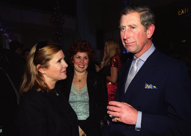 Carrie Fisher and the Prince Of Wales