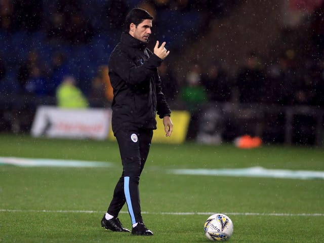 Manchester City assistant coach Mikel Arteta was on duty for the Oxford game despite being linked with a move to Arsenal