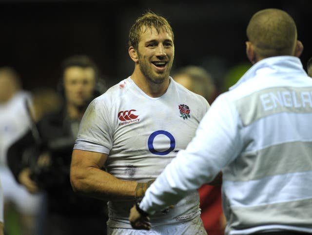 England's captain Chris Robshaw was all smiles at the end of the match