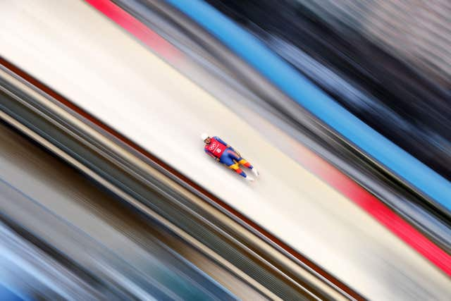 Romania's Valentin Cretu during his second practice run in the luge ahead of the PyeongChang 2018 Winter Olympic Games in South Korea. Austria's David Gleirscher won gold in the men's singles event