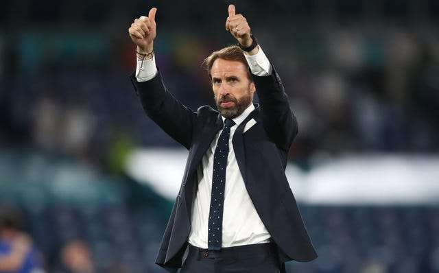 Three Lions boss Gareth Southgate greets fans of the full-time Stadio Olimpico (Nick Potts / PA).