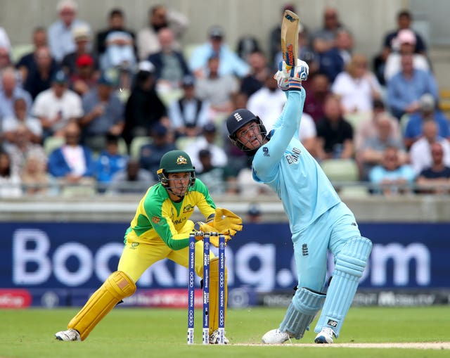 Jason Roy's powerful hitting ended Australia's slim hopes in the semi-final