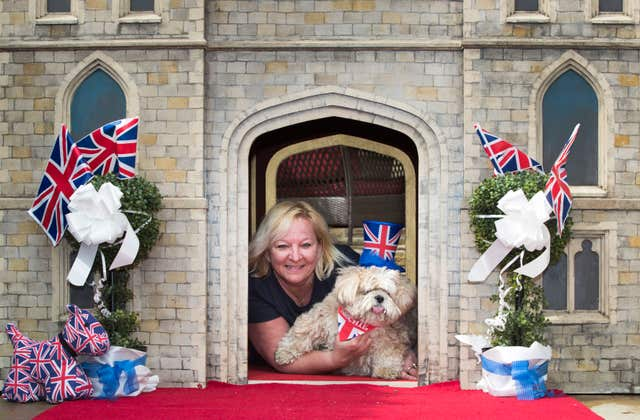 Lottery winner Susan Crossland with her dog Archie (Danny Lawson/PA)