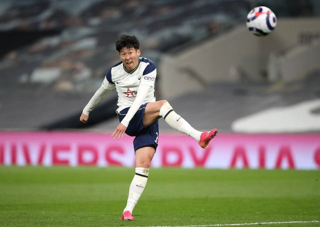 Son Heung-min scores his side's fourth goal