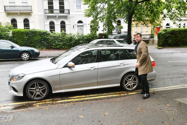 Nick Knowles arrives at court (Ben Birchall/PA)