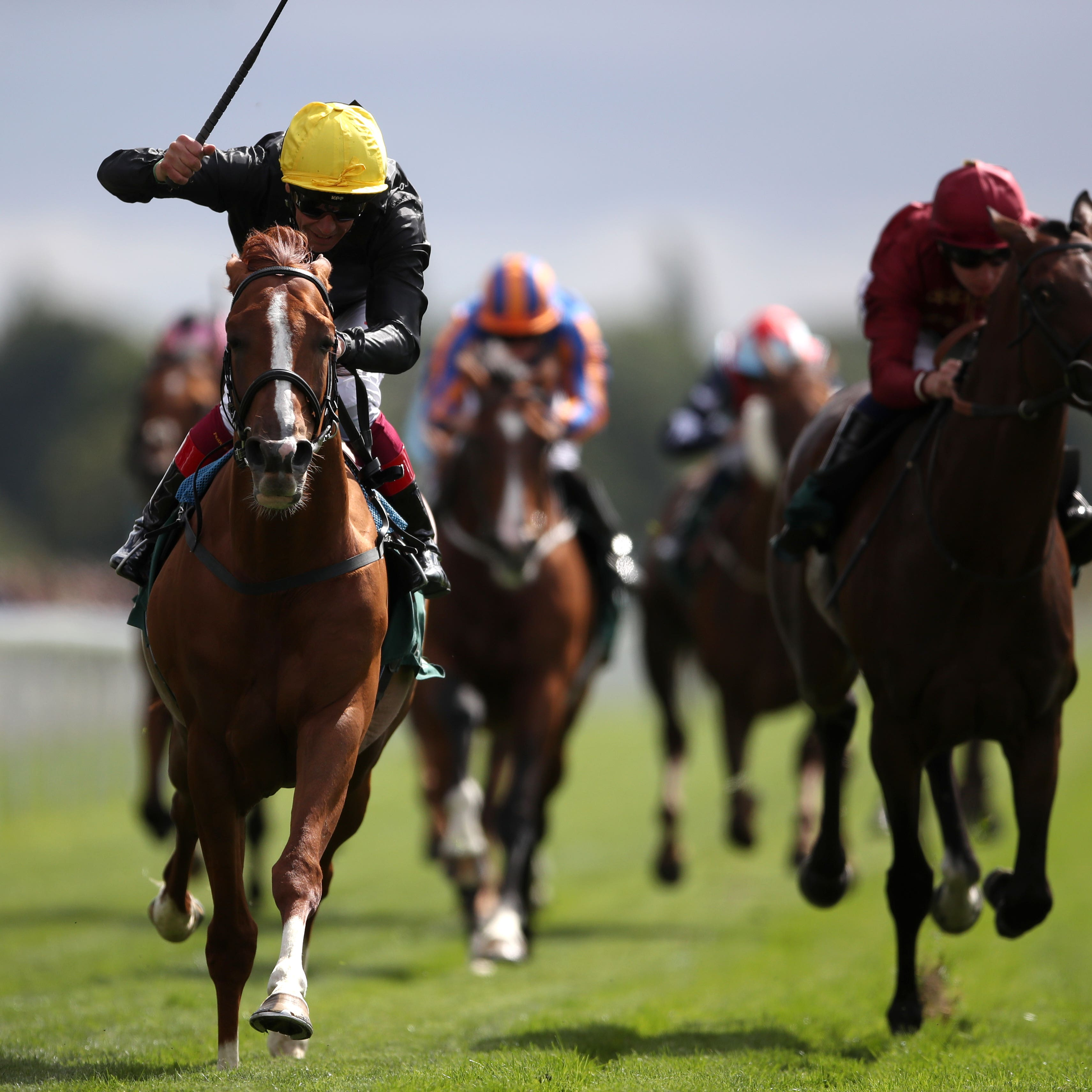 Stradivarius and Frankie Dettori (left) win the Weatherbys Hamilton Lonsdale Cup Stakes at York to claim the WH Stayers' Million (