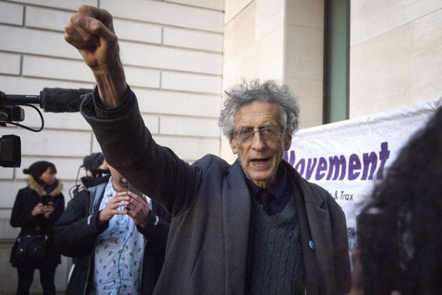 Piers Corbyn arrives at Westminster Magistrates' Court