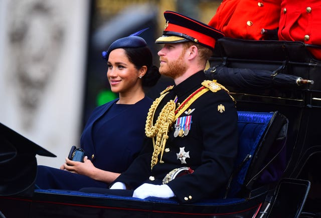 In Pictures: Meghan back in the spotlight for Trooping the
