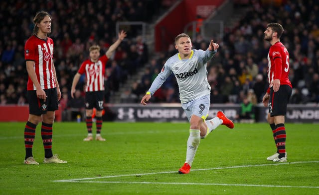 Martyn Waghorn drew Derby level in normal time