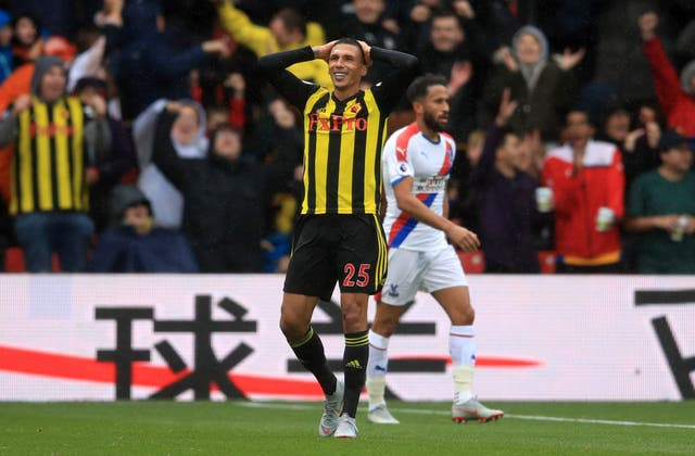 Jose Holebas scored a fortunate second for Watford