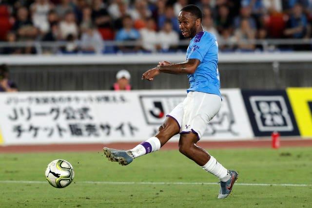 Raheem Sterling scores against Yokohama F Marinos