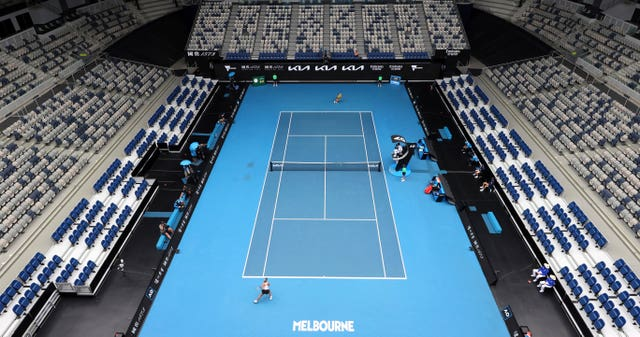 The stands at Melbourne Park were empty for the first time this tournament after Victoria was placed in lockdown