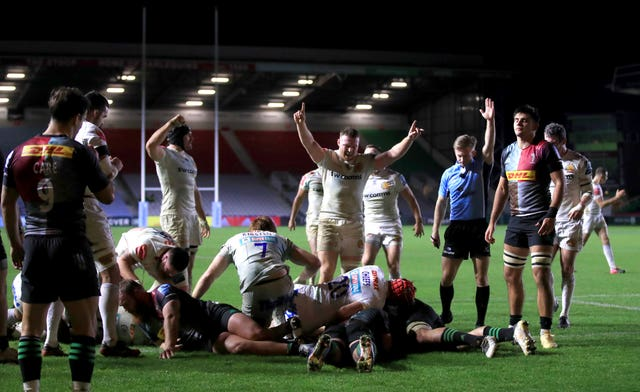 Exeter ran in five tries against Quins
