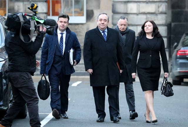 Alex Salmond and his legal team