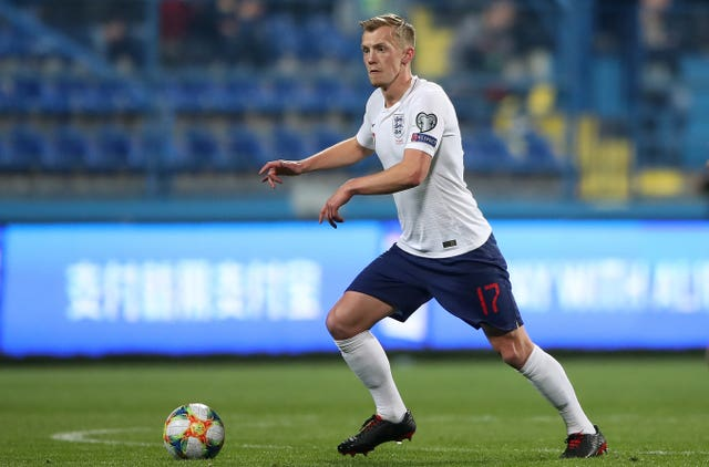 James Ward-Prowse played for England against Montenegro in March