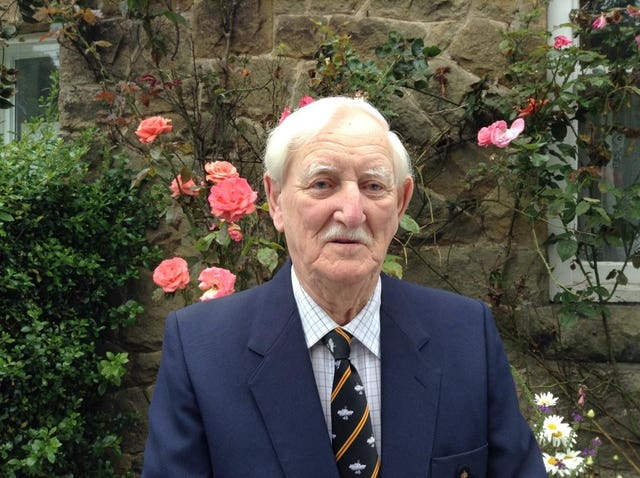 Mr Hutchinson is now aged 98 (SSAFA/PA)