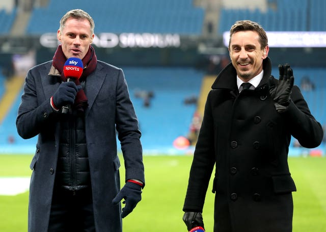 Jamie Carragher and Gary Neville were critical of Arsenal's display against Liverpool.