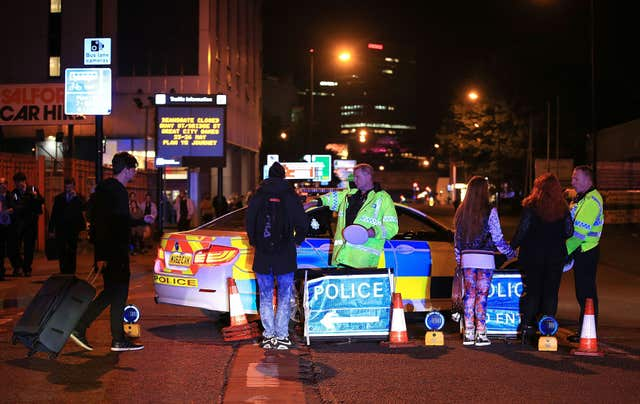 Twelve ambulances were on the scene within 20 minutes but there was a shortage of stretchers (Peter Byrne/PA)