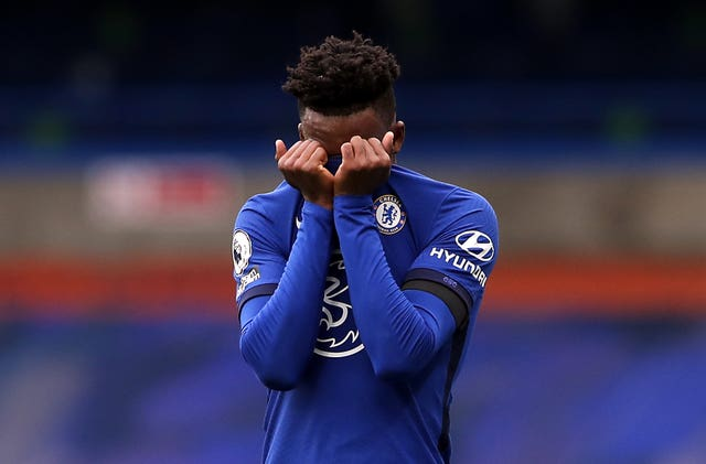 Callum Hudson-Odoi, pictured, was replaced just 31 minutes after coming on against Southampton on Saturday