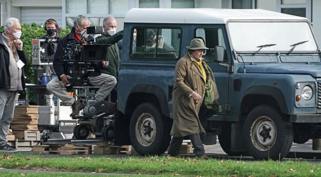 Vera filming in Tynemouth