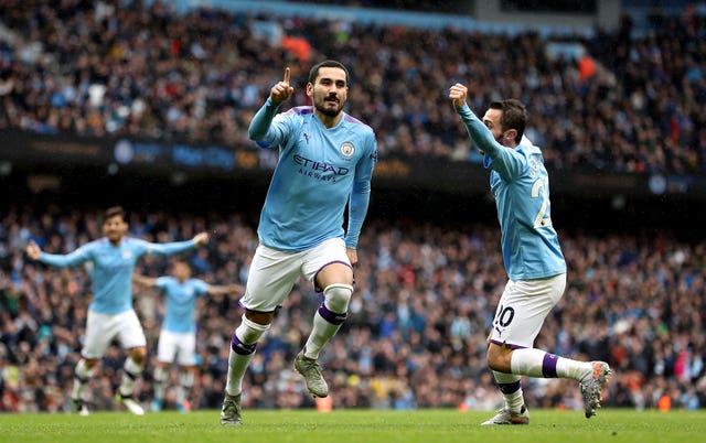 Ilkay Gundogan was among the scorers for City against Villa