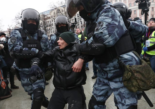 An arrest in Moscow