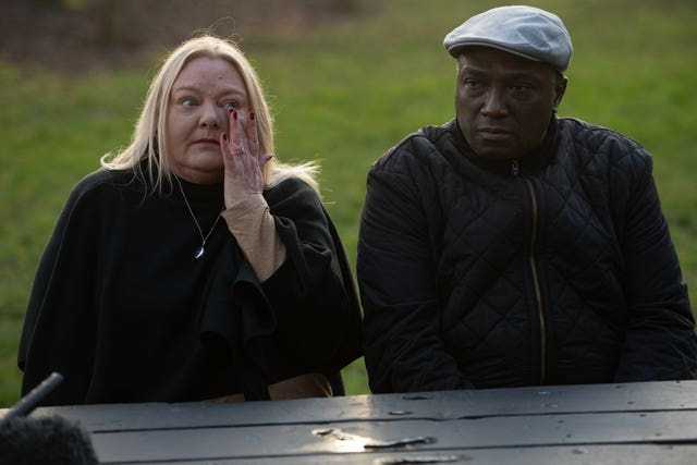 Dom Ansah's parents, Tracey and Dominic Ansah