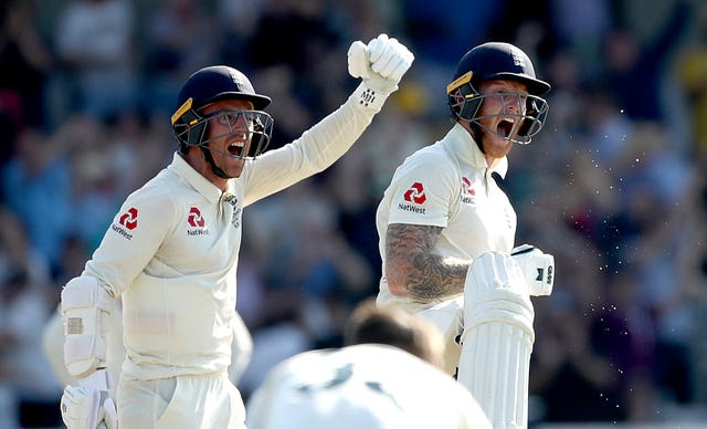 Leach, left, and Stokes guided England to victory at Headingley