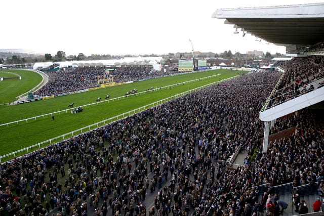 The Cheltenham Festival was criticised for going ahead (Tim Goode/PA)