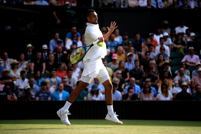 Nick Kyrgios, pictured, recently criticised Alexander Zverev (Adam Davy/PA)