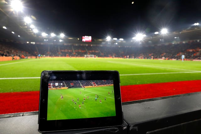 The match being streamed on the Amazon Prime App at St Mary's, Southampton.