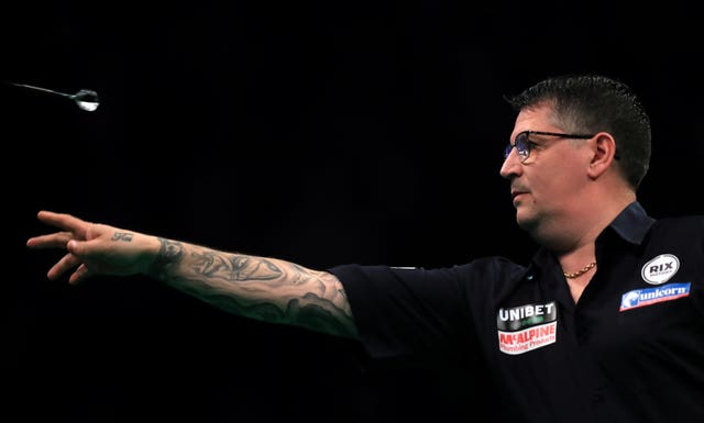 Gary Anderson was unable to keep up with Dimitri Van Den Bergh's scoring in the World Matchplay final