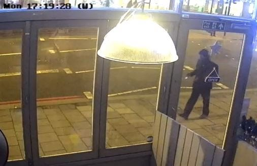 Mark Brazant seen on CCTV