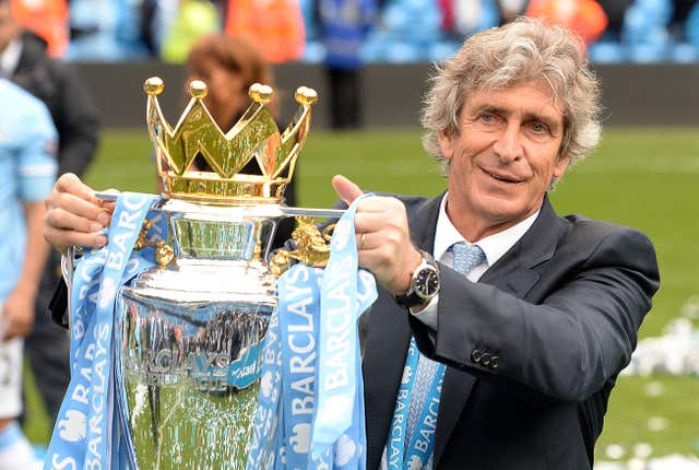 Pellegrini led Manchester City to Premier League glory in 2014