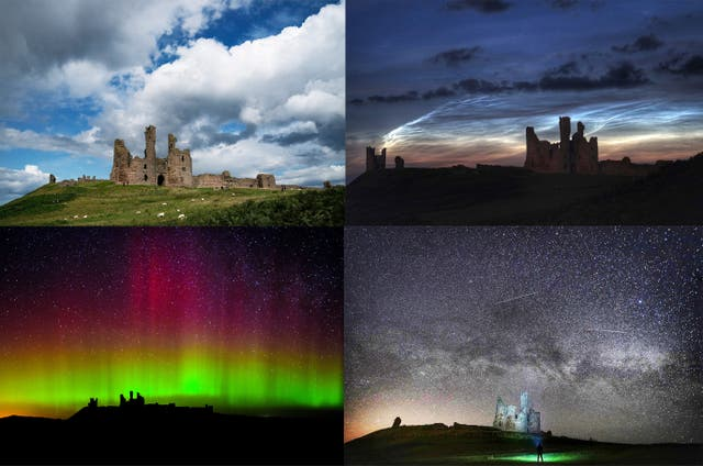 Northumberland landmarks by night