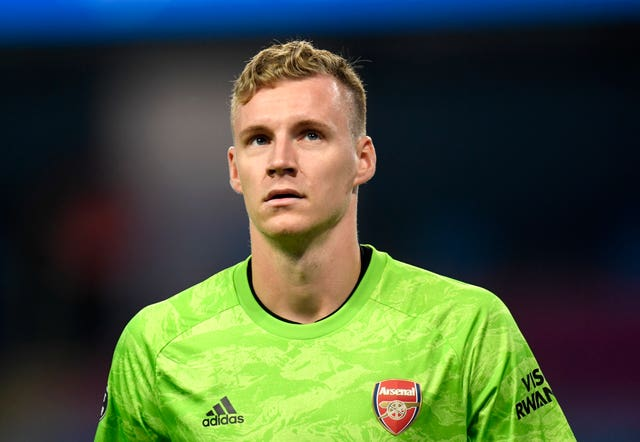 Arsenal goalkeeper Bernd Leno was at fault for Rapid Vienna's goal