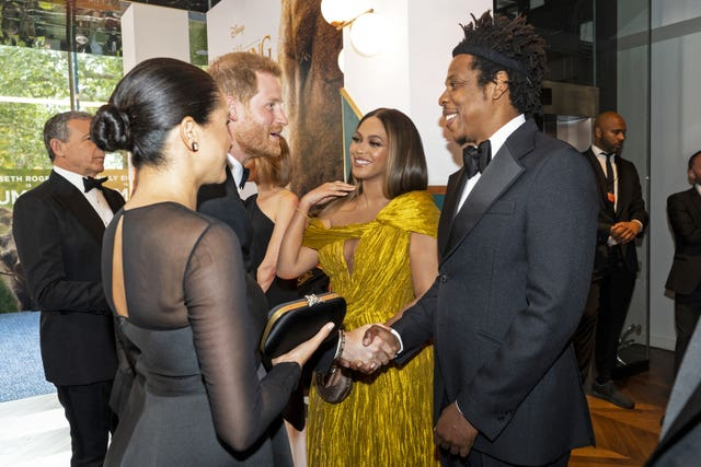 Harry and Meghan with Beyonce and Jay-Z