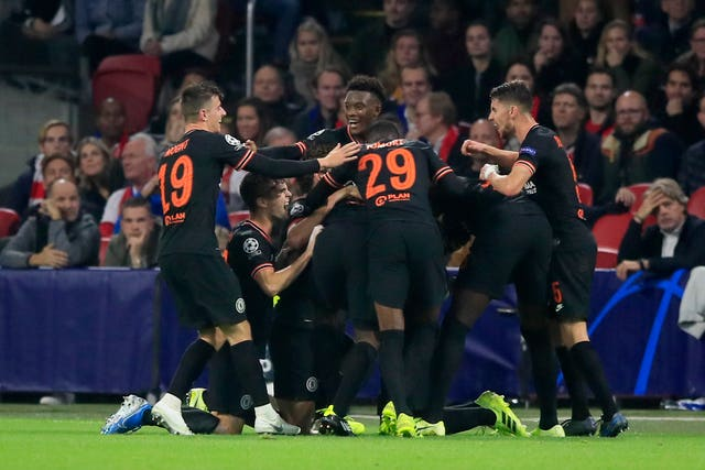 Chelsea moved to the top of Group H, above Ajax on their head-to-head record