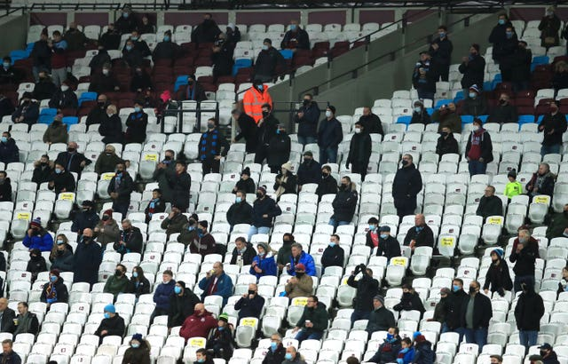 West Ham fans were the first in the to watch a Premier League match in action since March