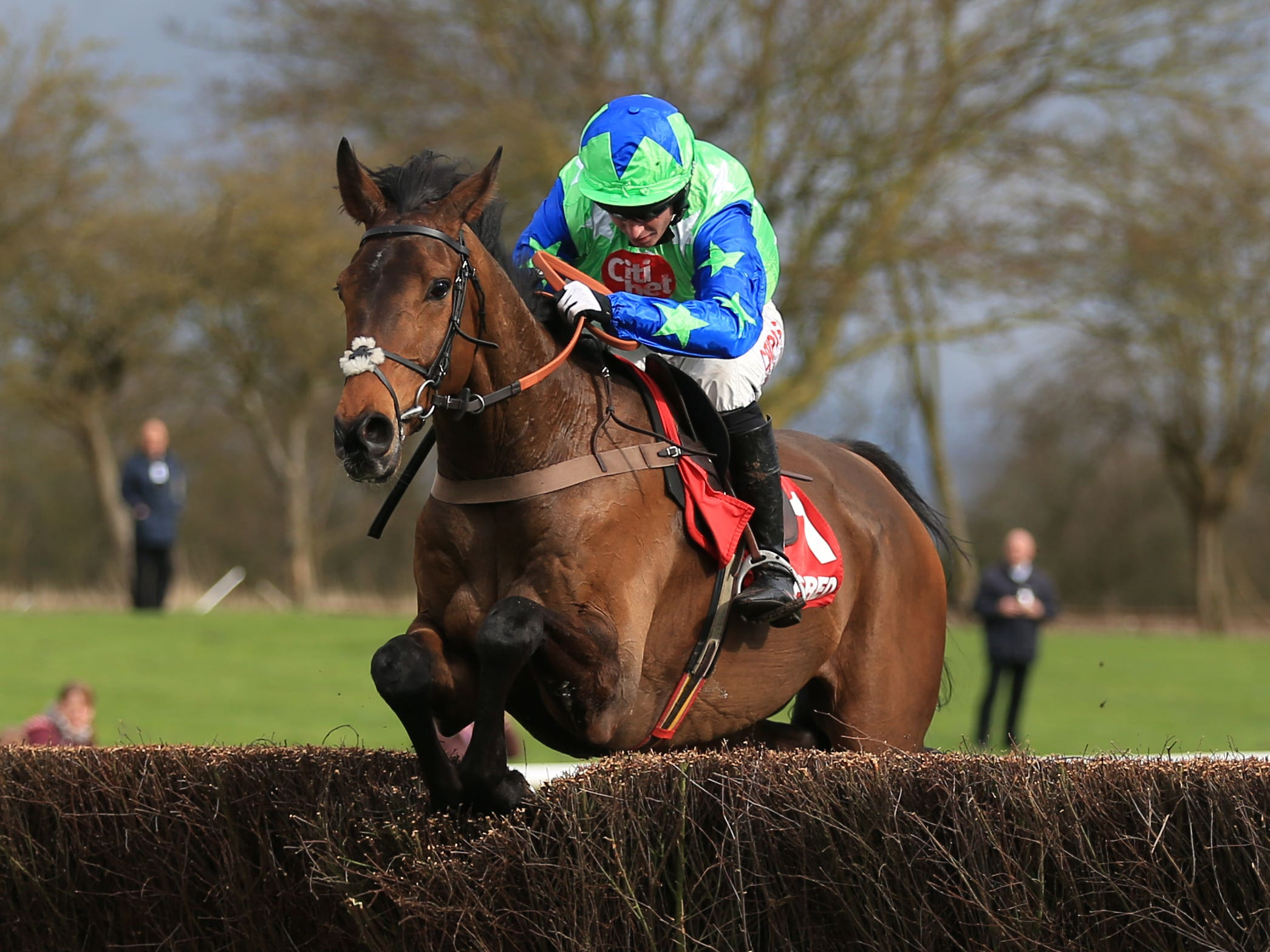 American on his way to winning at Uttoxeter (Nigel French/PA)