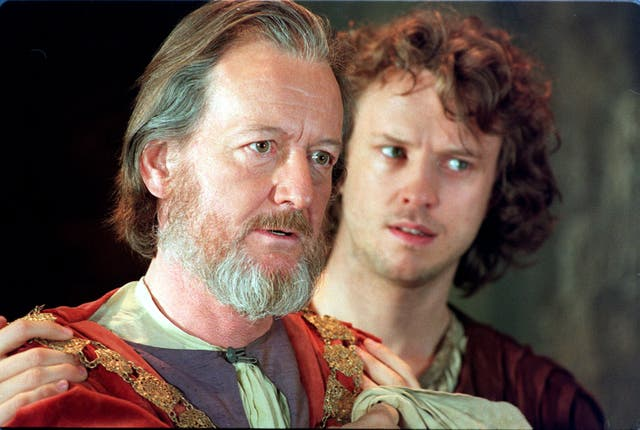 Pickup, left, as King Henry IV with Jonathon Firth as Hal