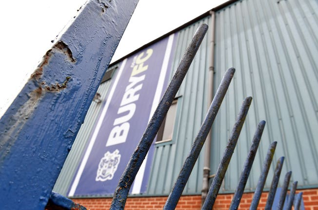Bury were expelled from the EFL this week